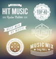 Music Labels vector image vector image