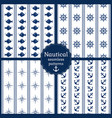 nautical seamless patterns collection vector image vector image