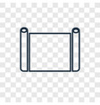 parchment concept linear icon isolated on vector image vector image