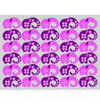 pink elephants vector image vector image