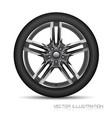 realistic allow car wheel silver grey star shape vector image