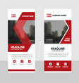 Red roll up business brochure flyer banner design vector image vector image