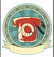 Retro telephone vector image