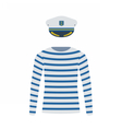 Sailor Shirt and Captain Cap vector image