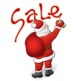 Santa Claus sale vector image