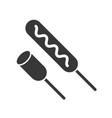 sausage food and beverage set glyph design icon vector image vector image