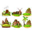 set of different islands vector image