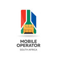 south africa mobile operator sim card with flag vector image vector image