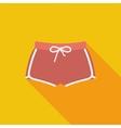 Sports shorts single icon vector image vector image