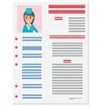 stewardess career information leaflet flat vector image