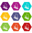 stylish balcony icons set 9 vector image vector image