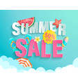 summer 2020 sale banner wih hot season elements vector image vector image