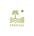 tropical logo design symbol inspiration vector image vector image
