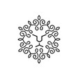vintage lion face line art logo vector image
