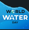 water day text black vector image vector image
