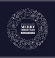 white christmas greetings at blue background vector image vector image