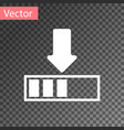 white loading icon isolated on transparent vector image