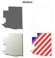 Windham Map Icon Set vector image vector image