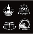 wine club house logo templates or winemaking bar vector image vector image