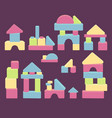 wooden brick house game balance for kids vector image vector image