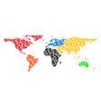 world map gdp mosaic of dollar and circles vector image