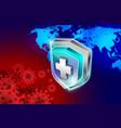 world shield vector image