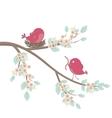 Birds family in love vector image