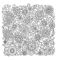 Ethnic floral retro doodle background pattern vector image