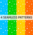 4 Seamless Geometry Patterns vector image vector image