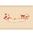 abstract chinese background vector image vector image