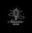 adventure dreaming travel nice flat design vector image