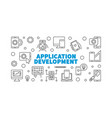 application development outline concept vector image