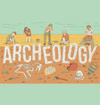 archaeological exploration historical artifacts vector image vector image