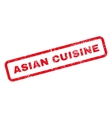 Asian Cuisine Text Rubber Stamp vector image vector image