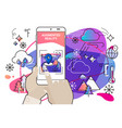 augmented reality amoeba style mobile app concept vector image