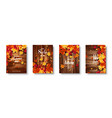 autumn falling leaves banner set nature vector image vector image