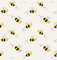 background with bees vector image
