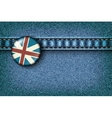 Badge with the UK flag on the jeans vector image vector image