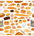 bakery confectionery sweets seamless pattern vector image