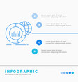 big chart data world infographic infographics vector image vector image