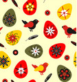 birds with easter eggs and feathers vector image vector image