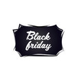 black friday sticker discount badge holiday vector image vector image