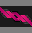 black purple abstract geometric corporate vector image