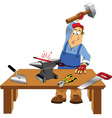 Blacksmith cartoon vector image