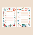 bundle of wish list templates decorated by vector image vector image