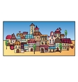 cartoon drawing town vector image vector image