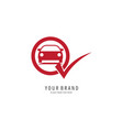 check car symbol logo vector image