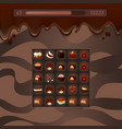 concept game with chocolate vector image