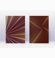 cover design template set abstract lines modern b