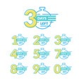 days left badges thin line set vector image